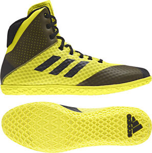 79520eb5abea Adidas 2018 Mat Wizard 4 Yellow Black Wrestling Shoes Men s Adult ...