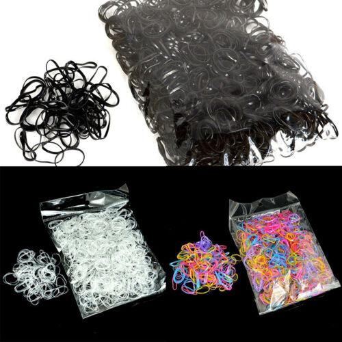 1000Stk Mädchen TPU Haargummis Gummiband Haarschmuck Haarband