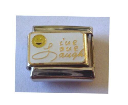 9mm Italian Charms E100 Live Love Laugh Fits Classic Size Bracelet