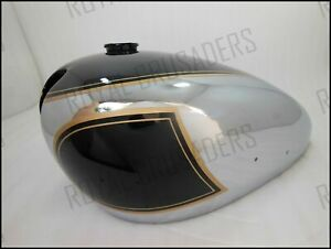 MATCHLESS AJS TWIN G9 G12 BLACK PAINTED CHROME PETROL TANK