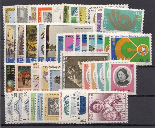 1973 Annata Repubblica Italiana francobolli nuovi gomma integra