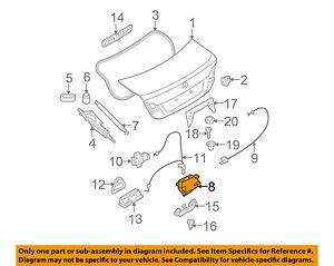 bmw oem 03 08 z4 trunk lock actuator motor 51247840617 ebay