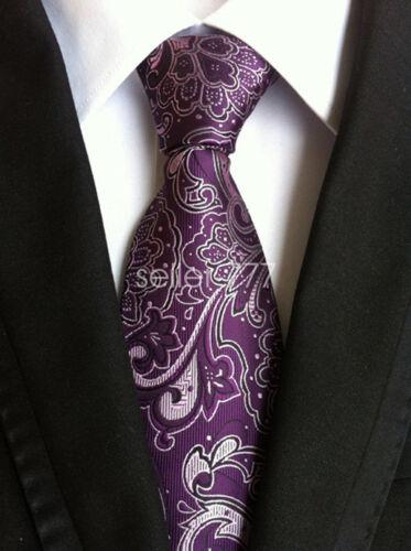 Fashion Mens Classic Silk Tie Necktie Striped JACQUARD WOVEN Neck Ties