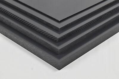 "Dark Gray 1//2/"" x 24/"" x 48/"" PVC Chemical Resistant Plastic Sheet"