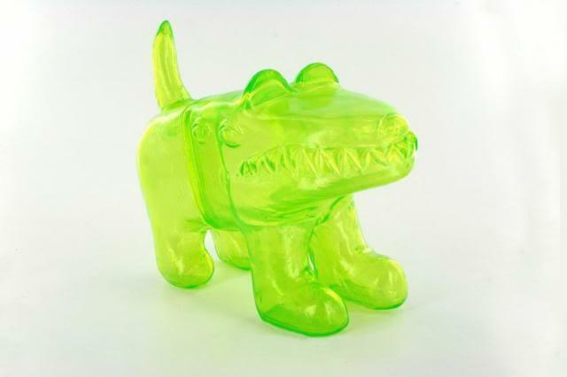 MR. CITRON LIME GREEN WAODOG KAIJU VINYL TOY FIGURE BY WAOTOYZ