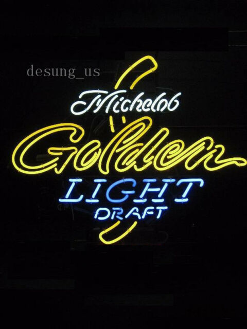 New Michelob Golden Light Draft Minnesota Beer Neon Sign