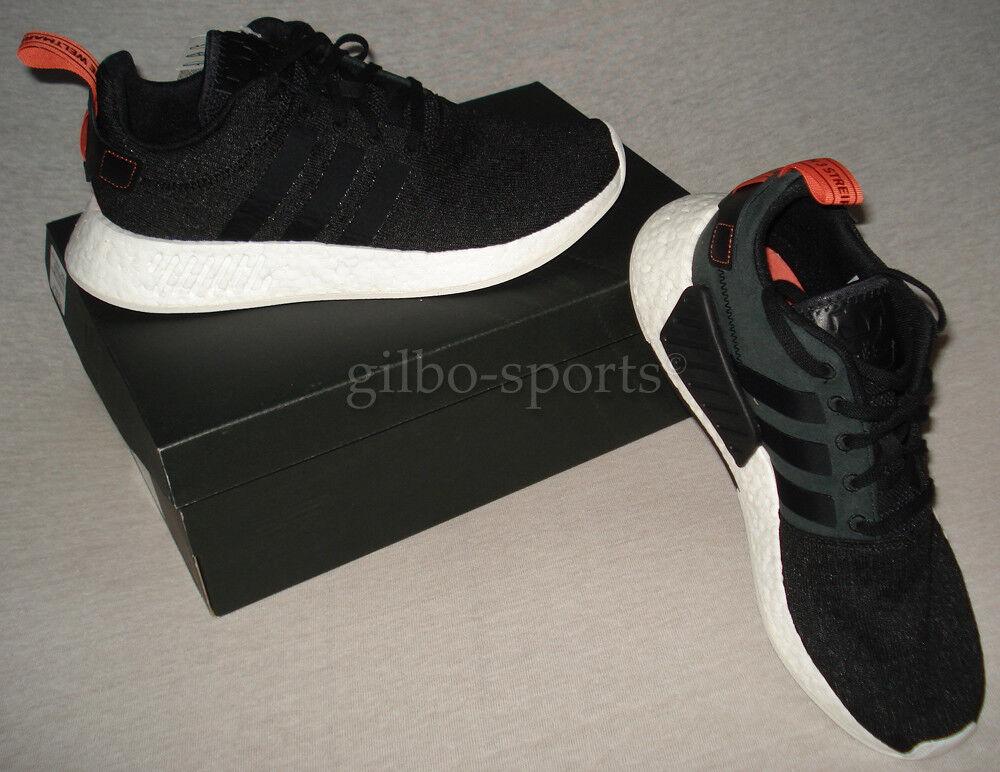 Adidas Originals NMD_R2 Black 44 White Gr. 42 2/3 44 Black Neu CG3384 R1 fe6c1c