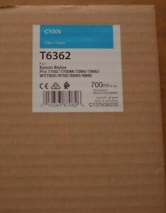 EPSON Stylus Pro T6362 Cyan Genuine Ink 700ml