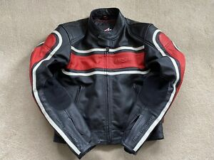 Hein Gericke Leather Jacket With Back, Shoulder And Elbow Armour - Size 30