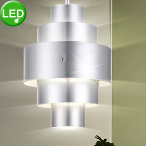 LED-Decken-Haenge-Leuchte-Wohn-Ess-Schlaf-Zimmer-Alu-Pendel-Lampe-Beleuchtung
