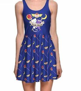 Sailor-Moon-Team-Wand-Cat-Luna-Anime-Manga-Purple-Otaku-Japanese-Skater-Dress