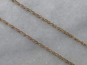 """Largo vintage 9ct oro amarillo macizo de 1978 Cadena Collar 24.5"""" - 2.8g chatarra de desgaste"""