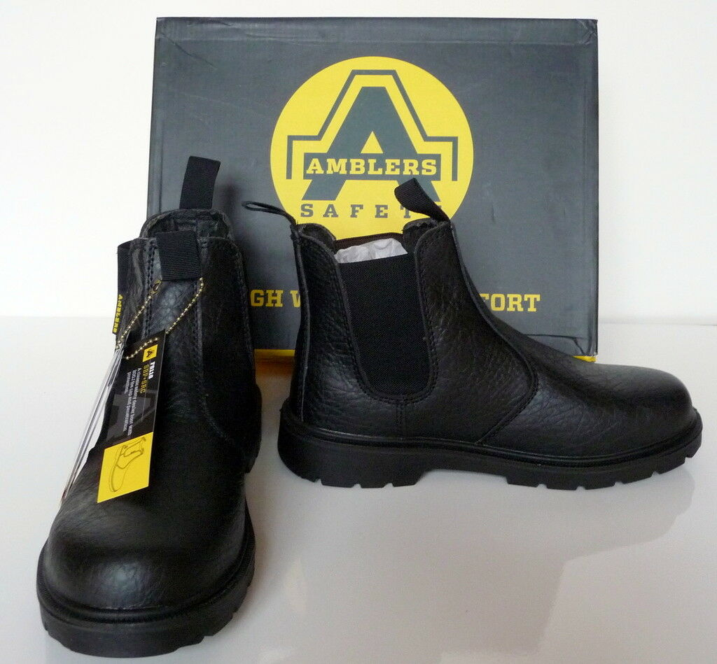 Safety Boots, Mens, Black, Amblers Safety, Steel Mid Sole, FS116, SIZE UK 6 - 12