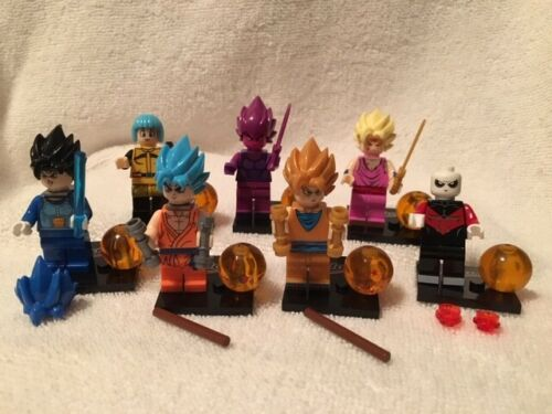 SET OF 7 DRAGON BALL Z MINI FIGURES-BRAND NEW ASSEMBLED W//ACCESSOR /& STANDS S1