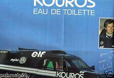 Coupure de presse 1988 (Poster) Eau de Toilette Kouros Yves Saint laurent Auriol