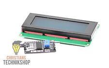 Set LCD 2004 I2C Modul | 20x4 Zeichen Beleuchtung Blau & I2C Modul für Arduino