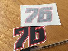 Loris Baz Race Number 76 - (pair)