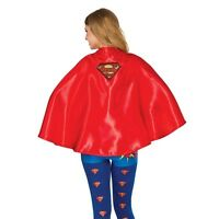 Womens Supergirl Cape Short Red Superhero Cape Adult One Size