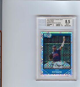 RARE-JASON-HEYWARD-2007-BOWMAN-CHROME-DRAFT-PICKS-X-FRACTOR-BDPP54-GRADED-8-5
