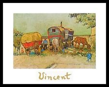 Vincent van Gogh Rast der Zigeuner Poster Bild Kunstdruck im Alu Rahmen 24x30cm