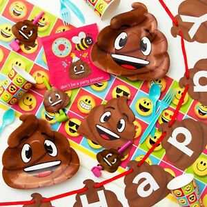 Image Is Loading Poop Emoji Birthday Party Supplies Kit