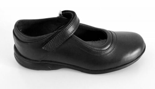 Term Zoe Leather Girls Touch Fast School Shoes
