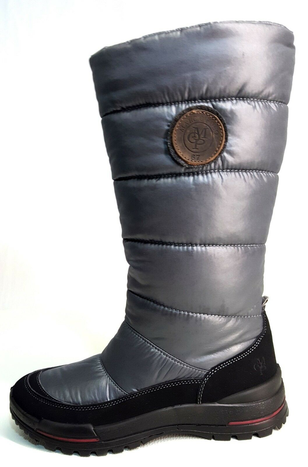 Marc O Polo Damen Stiefel Winterstiefel Stiefel grau gefüttert leicht  NEU
