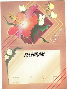 TELEGRAMME-POLOGNE-FLEURS-14-8-x-20-5