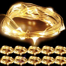 10x Warm White Copper Wire 30LED String Battery Powered Fairy Xmas Light 3M/10FT