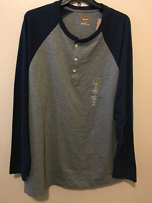 The Foundry Supply Co Suede Henley Parochial Green Big /& Tall Size 2XL