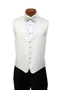 Light Silver 2XL Mens Andrew Fezza New York Stardust Fullback Vest w// Bow Tie