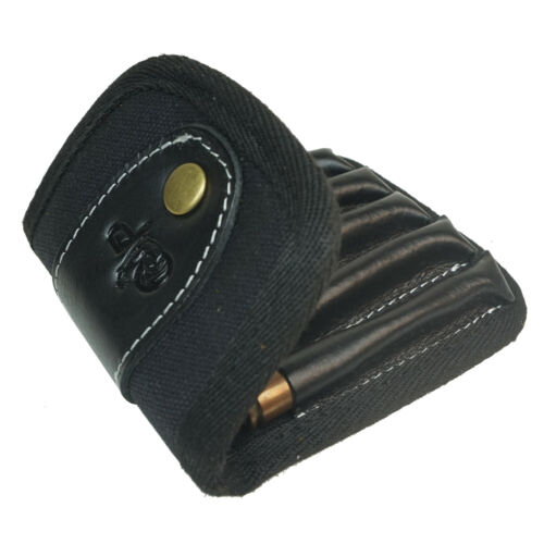 Leather Canvas Rifle Ammo Wallet//Shell Pouch//Cartridge Holder//Ammunition Carrier
