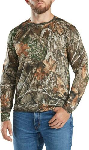 Men/'s RealTree Edge Camo Long Sleeve T-shirt Camouflage Hunting L 2XL XXL Large