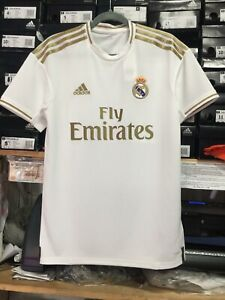 first rate 219af e2e3c Details about Adidas Real Madrid Home Jersey 2019/20 White And Gold Stadium  Cut Size XL ONLY