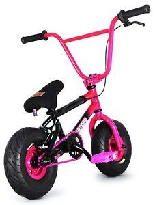 FatBoy-Stunt-Mini-10-034-BMX-Bicycle-Fat-Tire-Freestyle-Bike-Hellcat-Pink-Black-NEW