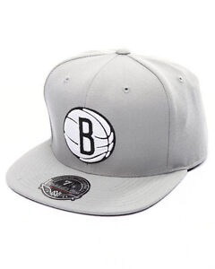 cheap for discount 69c4b 21a39 Image is loading Mitchell-amp-Ness-Brooklyn-Nets-Grey-BasketBall-High-