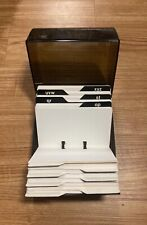 Vintage Eldon Business Card Amp Address File Box Smoked Acrylic