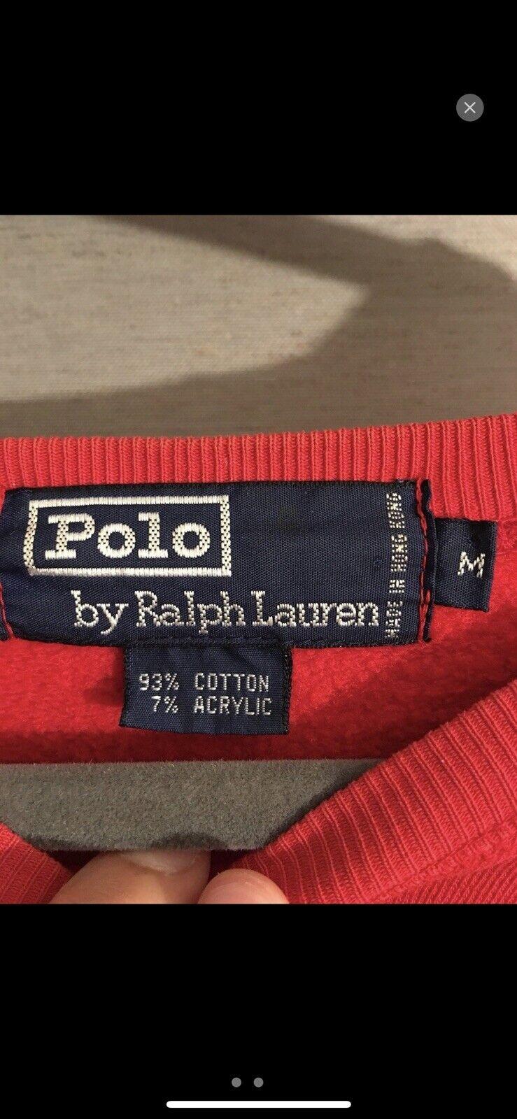Vintage 90's Polo Ralph Lauren RL 2000 bear sweat… - image 3