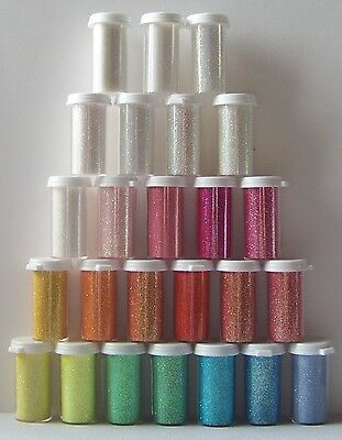 """Ultrafine Glitter .008"""" 1/128"""" Rainbow Iridescent Neon Matte ~ Small Jar"""