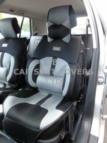 I Auto Sitzbezüge,Bo-1 Grau Sport Netz Passend für Ford Ranger