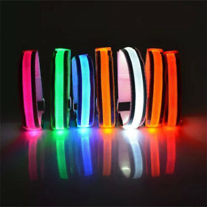 Reflective-LED-Light-Arm-Armband-Strap-Safety-Belt-For-Night-Running-Cycling