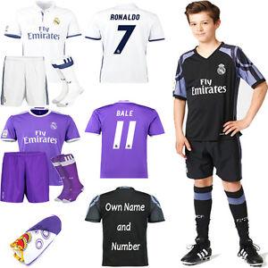 ac041967ca751 Detalhes sobre Kit Futebol Infantil 2017 Time De Futebol Uniforme ternos  Jersey de manga curta por 3-14 Anos- mostrar título no original