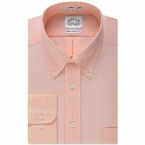 Eagle-Mens-Classic-Fit-Non-Iron-Sol-Orange-long-sleeve-button-down-dress-shirt
