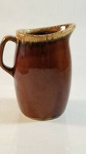 Vintage HULL Brown Drip Pottery Syrup Creamer Pitcher USA Oven Proof