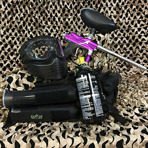 NEW-Azodin-Blitz-3-EPIC-Paintball-Marker-Gun-Package-Kit-Purple-Silver