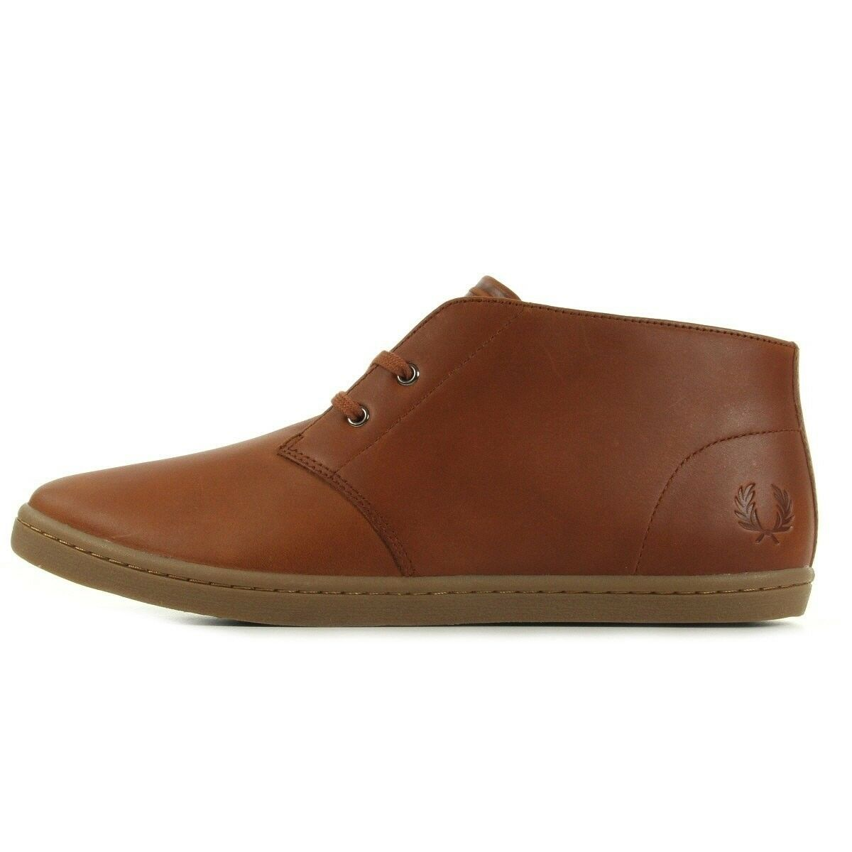 Fred Perry Men Boots Byron Mid Leather Tan