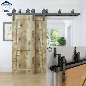 Etonnant Image Is Loading 5 16 039 Rustic Bypass Sliding Barn Door