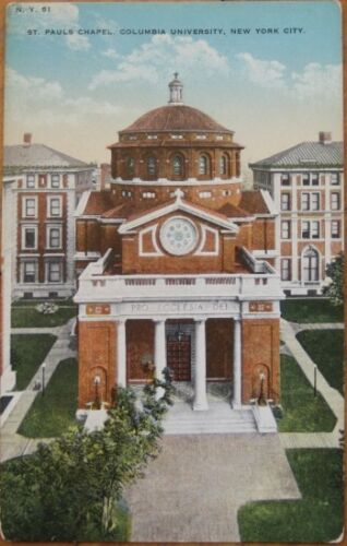 1910 PCColumbia University St Paul ChapelNew York, NY