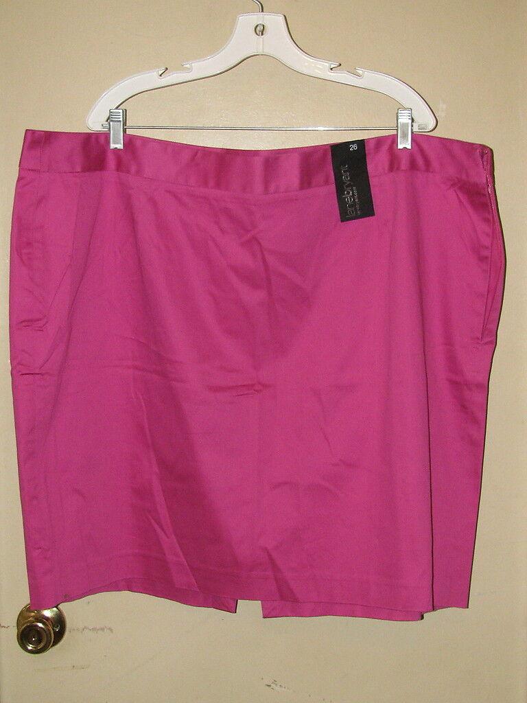 LANE BRYANT Plus Size Cotton Pencil Skirt  Pink  26W  NWT
