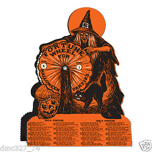 image is loading halloween decoration witch fortune wheel game vintage beistle